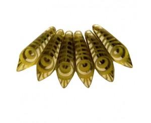Dagger-5x16mm, citrine, peacock - CHR