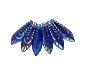 Dagger-5x16mm, sapphire, peacock - AB