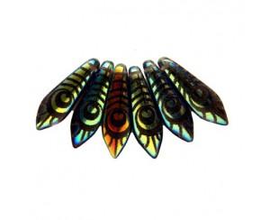 Dagger-5x16mm, tanzanit, peacock - AB