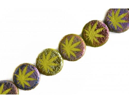 konopí - olivová hrubší mat, RN
