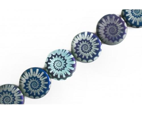 hodiny - světle modrý opál mat, AZ