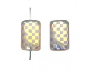 Rectangle 19x13mm, crystal, chessboard-AB