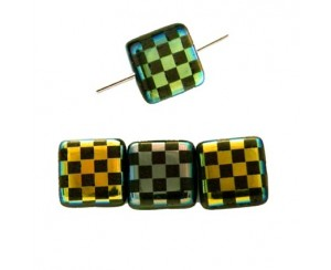 Squere 10mm, jet, chessboard-AB