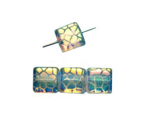 Squere 10mm, crystal, giraffe-AB